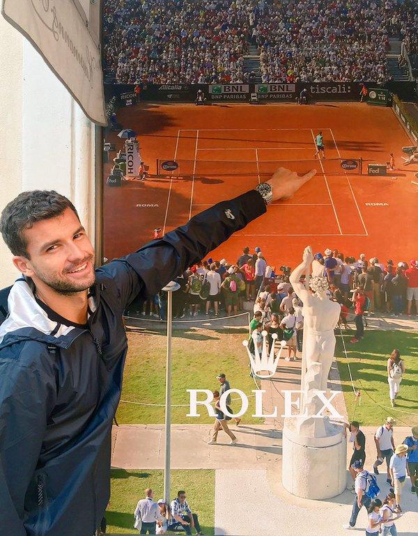 Григор Димитров вече е в Рим (снимка)