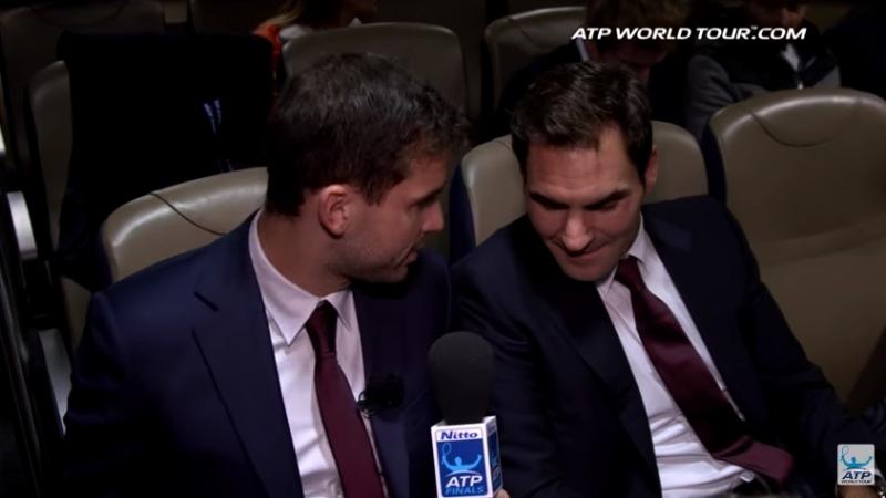 Димитров интервюира Федерер и компания (видео)